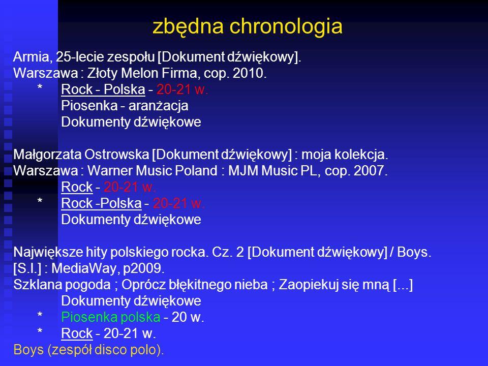 zbędna chronologia Armia, 25-lecie zespołu [Dokument dźwiękowy].